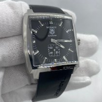 TAG Heuer Monaco Calibre 6 Stahl 37mm Schwarz