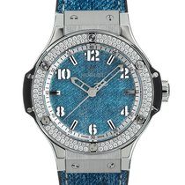 Hublot Big Bang 38 mm Stal 38mm Niebieski