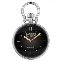 Panerai Table Clock Staal 65mm Zwart