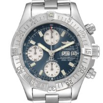 Breitling Steel Automatic Blue 42mm pre-owned Superocean Chronograph II