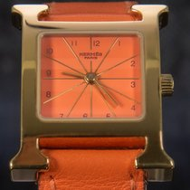 Hermès Heure H Steel 26mm Orange Arabic numerals