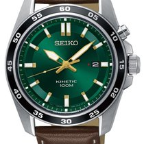 Seiko Kinetic Steel 42mm Green