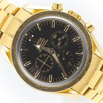 Omega Yellow gold Automatic Black 42mm pre-owned Speedmaster Date