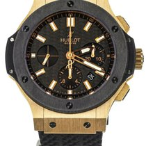 Hublot Rose gold Automatic Black 44mm pre-owned Big Bang 44 mm