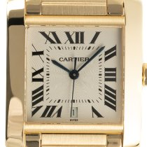Cartier Tank Française pre-owned 24mm Date Yellow gold