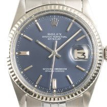 Rolex Datejust Acero y oro 36mm Azul