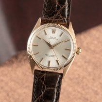 Rolex Rotgold Automatik Silber 34mm gebraucht Oyster Perpetual 34