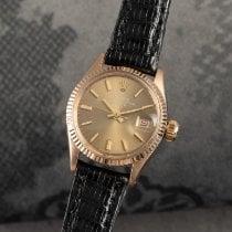 Rolex Oyster Perpetual Lady Date 6517 Velmi dobré Žluté zlato 25mm Automatika