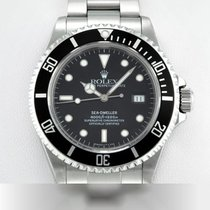 Rolex Sea-Dweller 4000 Stal 40mm Czarny Bez cyfr