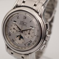 Zenith El Primero Chronograph Steel 40mm Silver Roman numerals