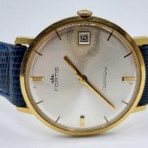 포티스 옐로우골드 수동감기 은색 숫자없음 34mm 중고시계