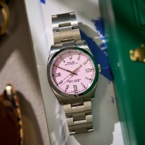 Rolex Oyster Perpetual 36 Steel 36mm Pink No numerals United Kingdom, London