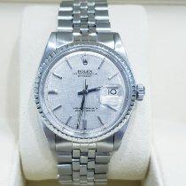 Rolex Datejust brugt 36mm Sølv Dato Stål