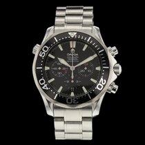 Omega Seamaster Diver 300 M gebraucht 41.5mm Schwarz Chronograph Datum Stahl
