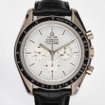 Omega White gold Manual winding Silver pre-owned Speedmaster