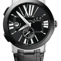 Ulysse Nardin Executive Dual Time Steel 43mm Black