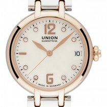 Union Glashütte Sirona Gold/Steel 32mm Mother of pearl