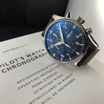 IWC Fliegeruhr Chronograph Stahl 43mm Blau Arabisch Deutschland, Augsburg