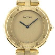 Cartier Gelbgold Quarz Gold 27mm gebraucht Santos (submodel)