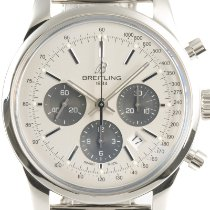 Breitling Transocean Chronograph Steel 43mm Silver