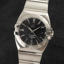 Omega Constellation Double Eagle Stal 38mm Czarny