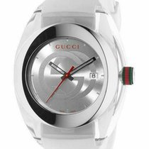 Gucci YA137102 New Steel 42mm Chronograph