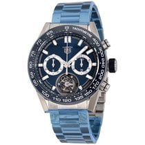 TAG Heuer Carrera Heuer-02T Steel 45mm Blue No numerals United States of America, New York, Greenvale