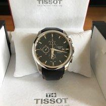 Tissot Couturier подержанные 41mm Черный Хронограф Дата Кожа