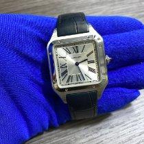 Cartier Santos Dumont Stahl 43.5mm Silber Römisch