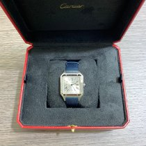 Cartier Steel Quartz Silver Roman numerals 43.5mm new Santos Dumont