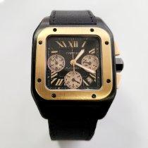 Cartier Santos 100 Rose gold 38mm Black Roman numerals United States of America, California, Los Angeles