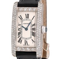Cartier Tank Américaine White gold 19mm Silver Roman numerals United States of America, New York, NEW YORK CITY