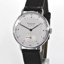 NOMOS Metro Neomatik pre-owned 35mm Silver Leather