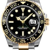Rolex (ロレックス) 新品 自動巻き 蓄光文字盤 蓄光針 ねじ込み式リューズ 40mm ゴールド/スチール サファイアガラス