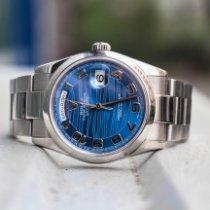 Rolex Day-Date 36 White gold 36mm Blue Arabic numerals