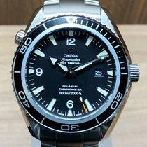 Omega Stål Automatisk Svart Arabiska 45,5mm begagnad Seamaster Planet Ocean
