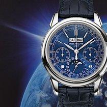 Patek Philippe Perpetual Calendar Chronograph Weißgold 41mm Blau Keine Ziffern