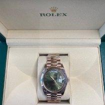 Rolex Day-Date 40 Rose gold 40mm Brown Roman numerals