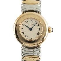 Cartier Damenuhr 24mm Quarz gebraucht Uhr mit Original-Box und Original-Papieren 1996