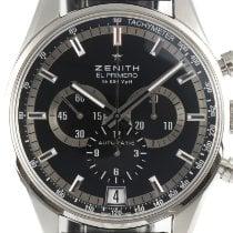 Zenith Steel Automatic Black 42mm pre-owned El Primero 36'000 VpH