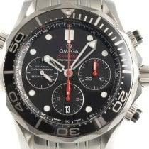 Omega Seamaster Diver 300 M gebraucht 44mm Schwarz Chronograph Datum Stahl