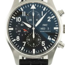 IWC Pilot Chronograph Ocel 43mm Černá