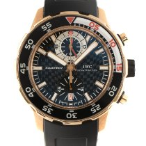 IWC Yellow gold Automatic Black 45.5mm pre-owned Aquatimer Chronograph
