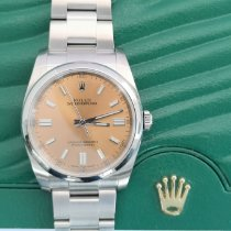 Rolex Oyster Perpetual 36 usados 36mm Blanco Acero