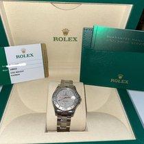 Rolex Yacht-Master Platinum 35mm Silver No numerals