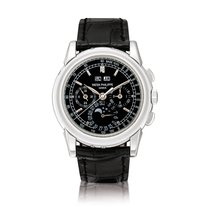Patek Philippe Platinum Manual winding Black 40mm Perpetual Calendar Chronograph