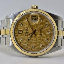 Tudor Prince Date Gold/Stahl 34mm Gold Keine Ziffern