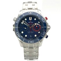 Omega Seamaster Diver 300 M neu 2021 Automatik Chronograph Uhr mit Original-Box und Original-Papieren 210.30.44.51.03.002