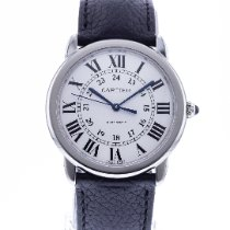 Cartier Ronde Croisière de Cartier gebraucht 36mm Silber Leder
