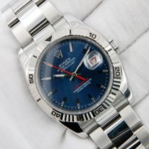 Rolex Datejust Turn-O-Graph Stal 36mm Niebieski Bez cyfr